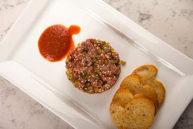 Beef Tartare at the Iron Room at Atlantic City Bottle Company