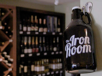 An Iron Room growler at Atlantic City Bottle Company