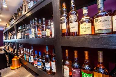The whiskey selection at Atlantic City Bottle Co