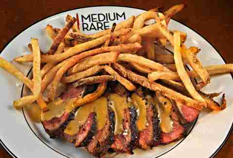 medium rare philadelphia steak frites