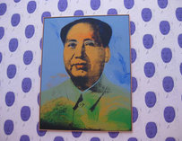 Warhol's portrait of Mao on display at the Hamburger Bahnhof