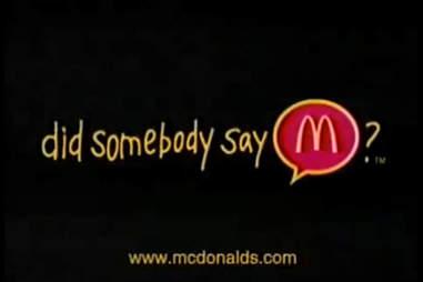 Did somebody say McDonald's