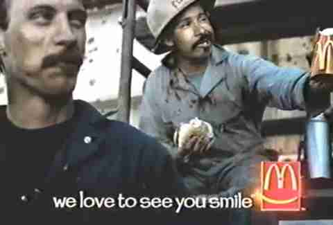 We love to see you smile McDonald's