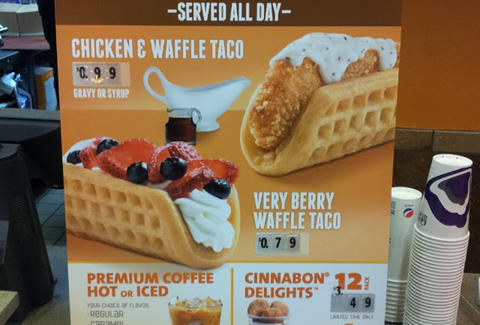 taco bell chicken and waffle very berry orange county california