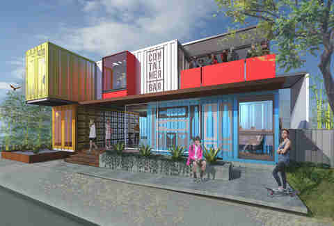 Container Bar rendering