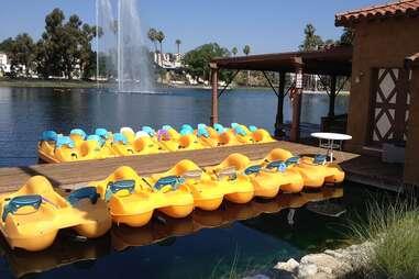 Pedal Boat Echo Park Lake LA