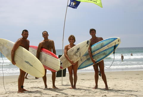 naked surfers