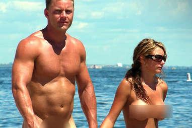 naked couple walking