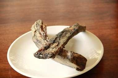Smoked rib bones