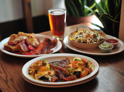 brunch dishes at Billy's Inn