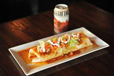 chorizo burrito at Tavern Uptown