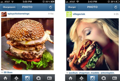 Burgers on Instagram