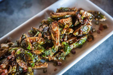 Deep fried brussels sprouts at Blue Ribbon Rustic Kitchen in San Diego.