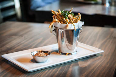 """Organic zucchini """"french fries"""" at Blue Ribbon Rustic Kitchen in San Diego."""