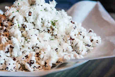 Heirloom wisconsin black seed popcorn at Blue Ribbon Rustic Kitchen in San Diego.