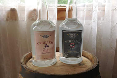 Bottles of Ethereal Gin from Berkshire Mountain Distillers