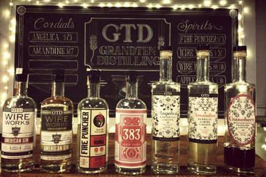 Bottles at GrandTen Distilling