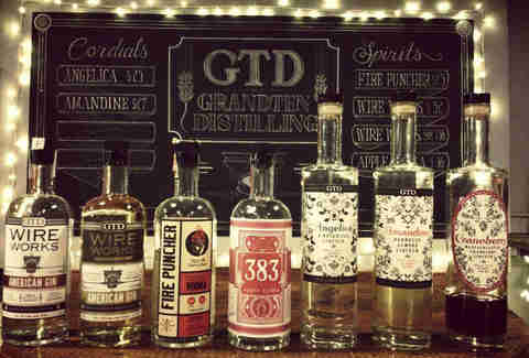 Bottles at GrandTen Distilling