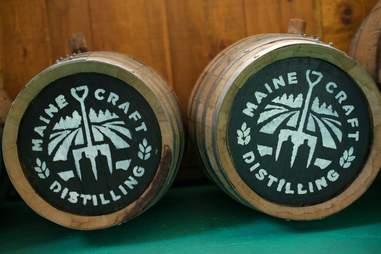Barrels from Maine Craft Distilling