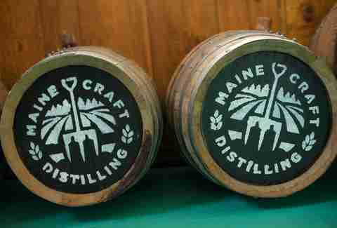 Barrels from Maine Craft Distilling