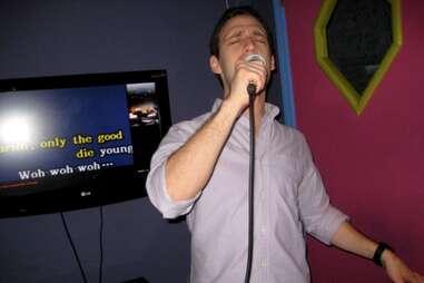 Karaoke, salvaging a Hamptons night