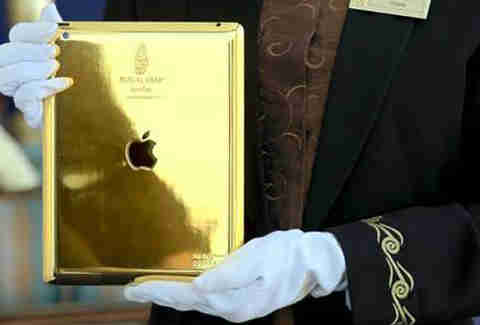 Gold iPad, Burj Al Arab - Dubai, India