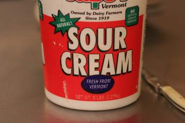 Sour Cream for Boozy Cupcakes