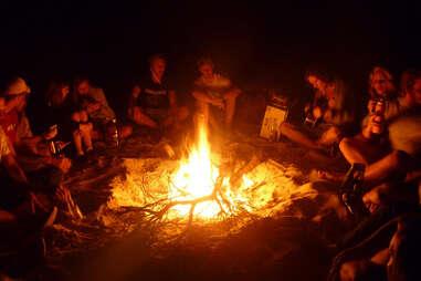 Beach bonfire, salvaging hamptons night