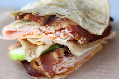 Turkey roll wrap at Burke's Bacon Bar in River North