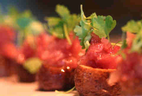 Tuna tartare potato skins at The Continental AC.
