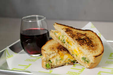 Baked Crab Grilled Cheese, TLT Food, Los Angeles