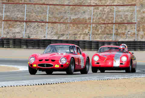 A 1963 Ferrari 250GTO Berlinetta and a Porsche 356A Convertible D