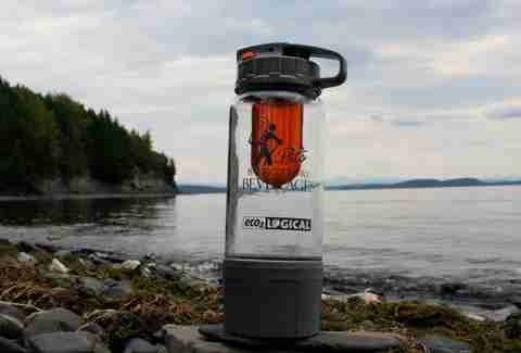 carbonator by a lake