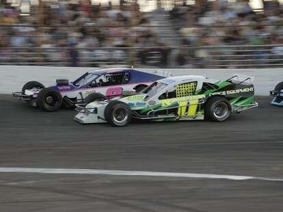 race cars at Riverhead Raceway