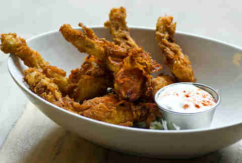 Deep-fried frog legs