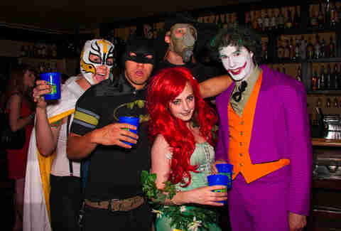 Superhero bar crawl