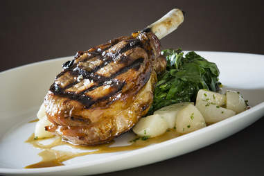 The Berkshire Pork Chop at Tortoise Club in Chicago