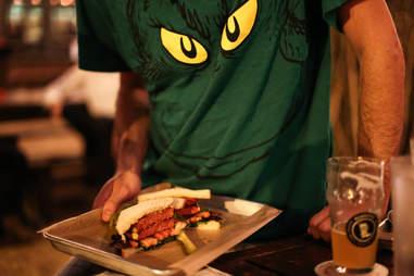 fried bologne sandwich