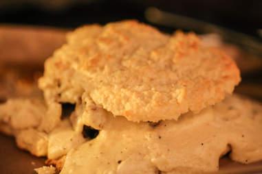 chicken fried chicken biscuit