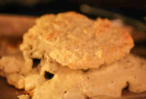chicken fried chicken biscuit