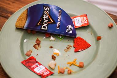 Taco Bell Doritos Loco remnants