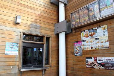 Taco Bell walk-up window