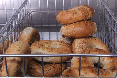 A seclection of bagels from the Schmear It truck