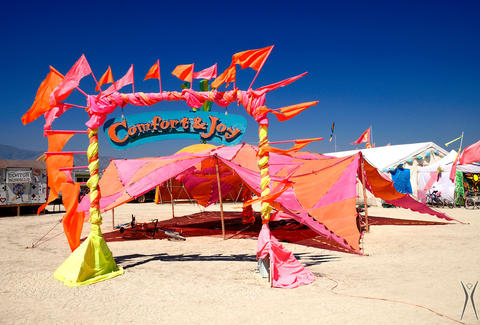 Burning Man tent