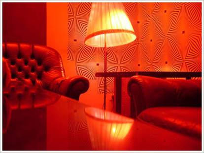 Chair and light inside Muschi Obermaier