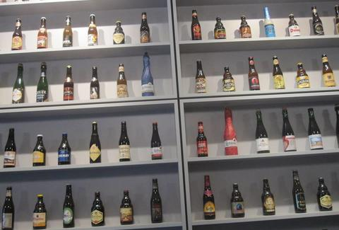A wall of beer inside Herman