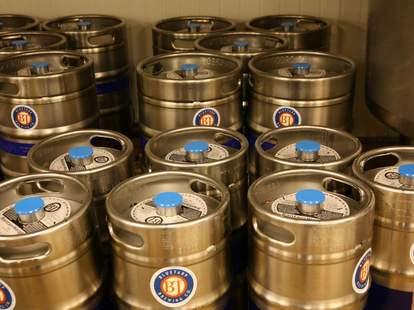 kegs from BlueTarp Brewing Co