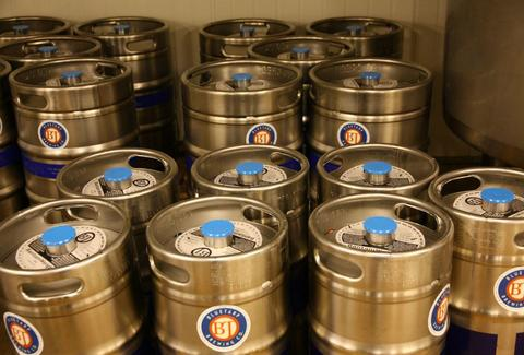 kegs from BlueTarp Brewing Co