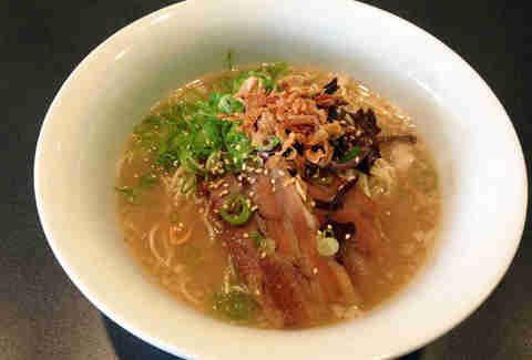 Bowl of ramen at Snappy Ramen in Davis Square