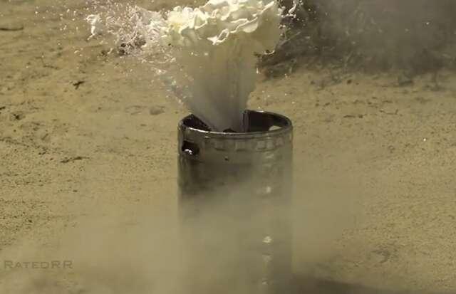 Watch a madman tap a keg by basically dynamiting it